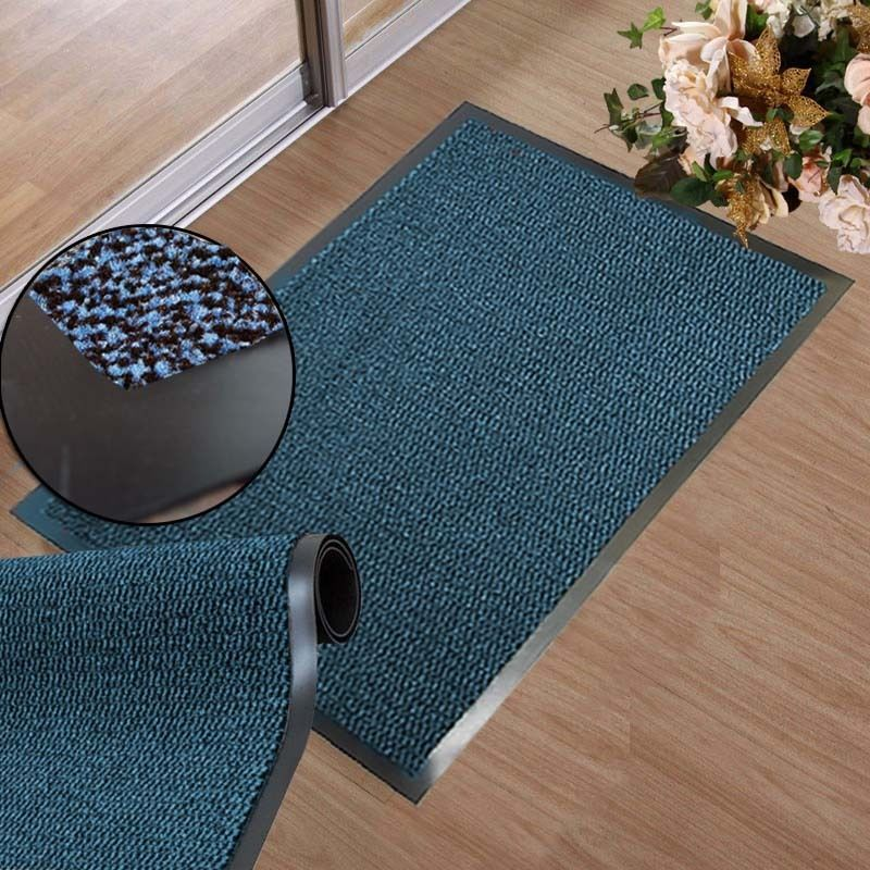 Non Slip Door Mat Pvc Rubber Backed Runner Barrier Dirt Mats Rug