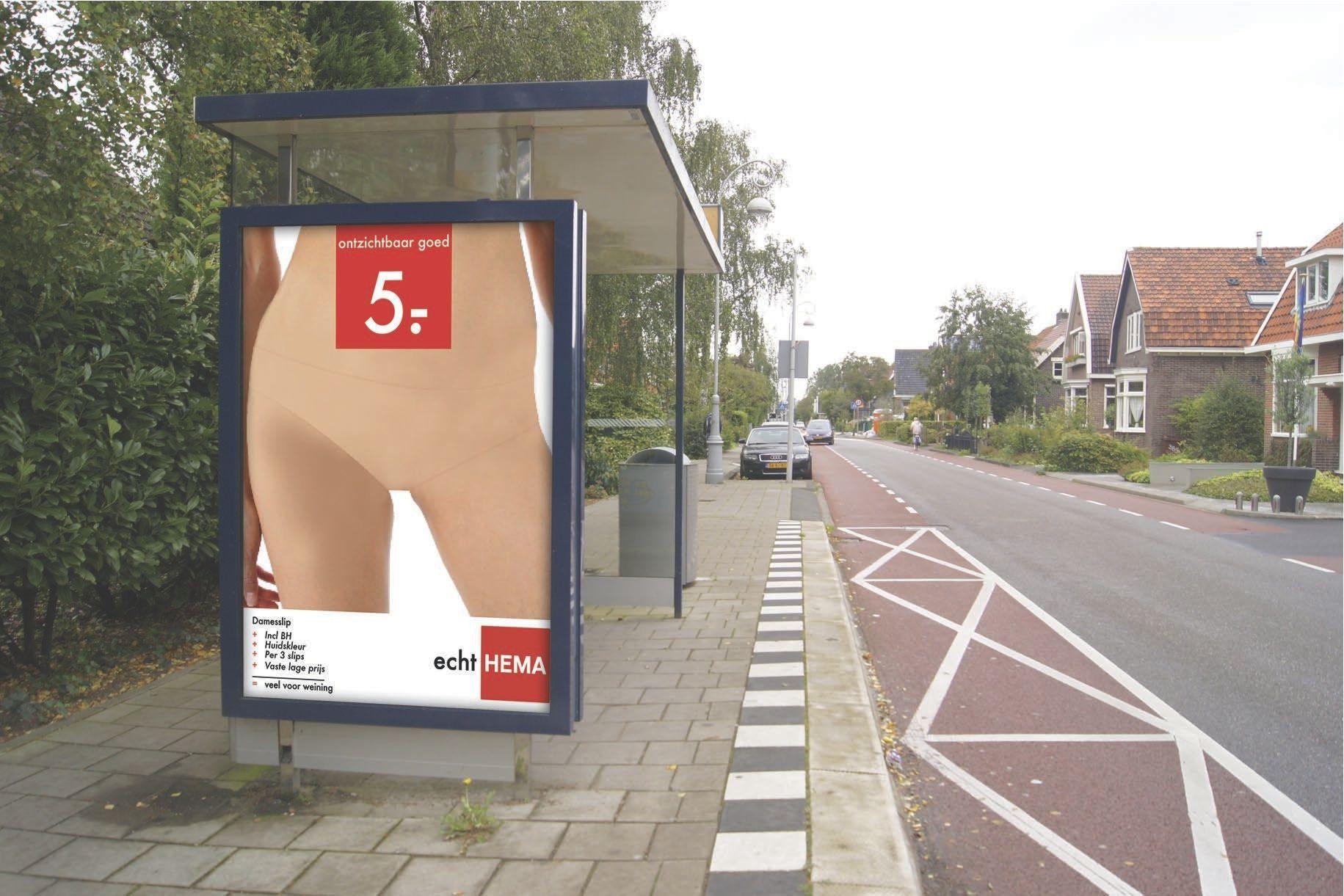reclameposter Hema onzichtbaar ondergoed http://alvinallistar.files.wordpress.com/2011/09/bushokjehemadef.jpg