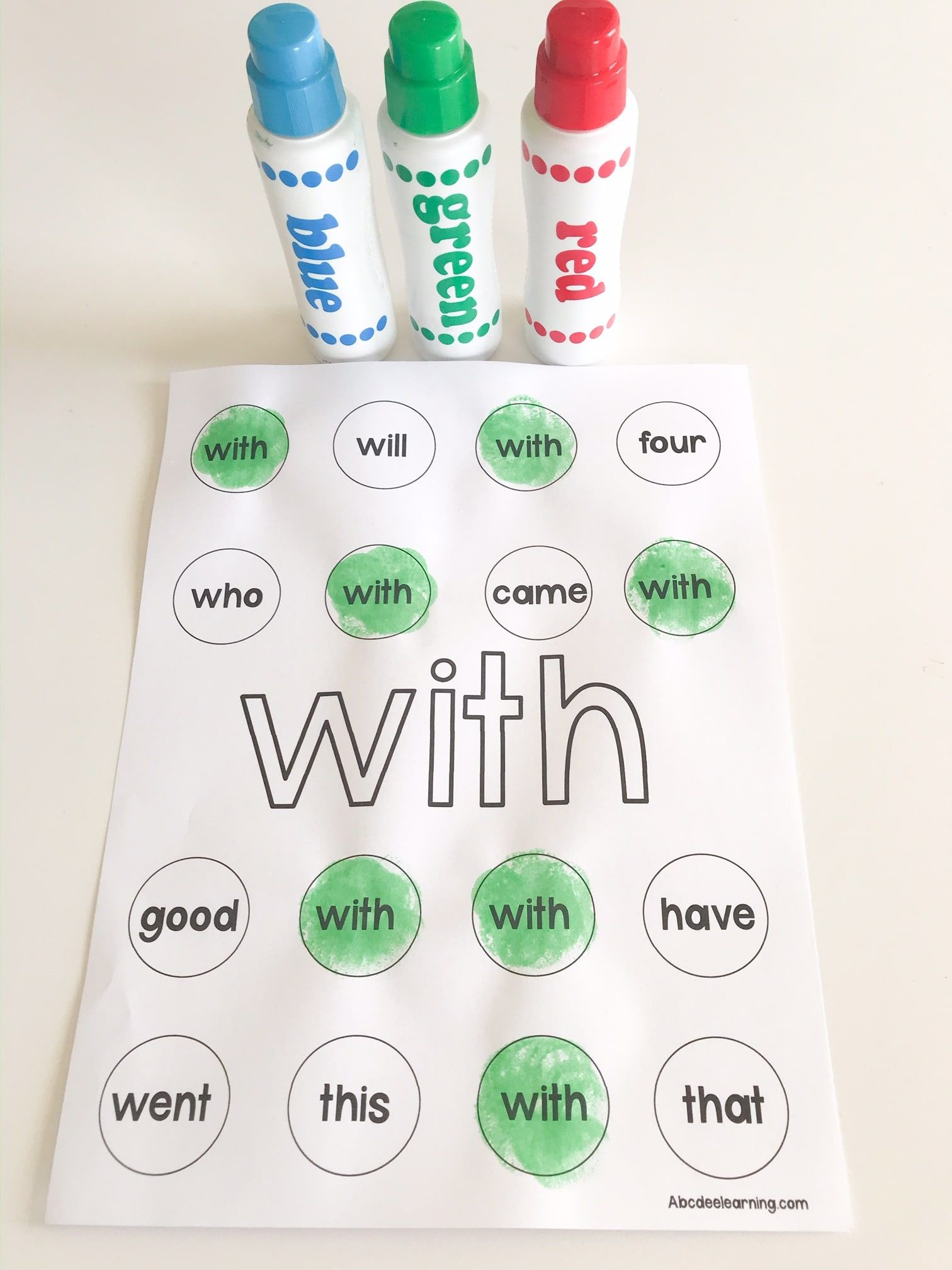 Practice Sight Words With My Free Do A Dot Sight Word