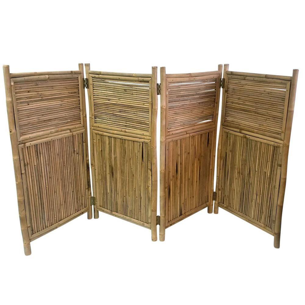MGP 96 in. W x 48 in. H per panel 4Panel Bamboo Screen