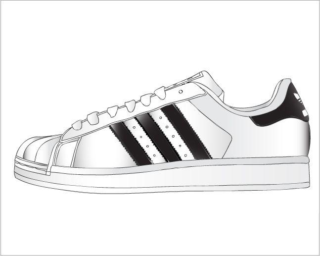 adidas shoes vector art