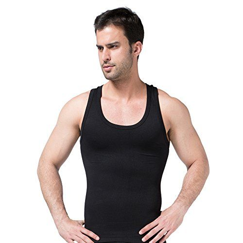 2c57fb2df5a Hanerdun Mens Slimming Body Shaper Shirt Vest Abs Abdomen Slim   More info  could be found at the image url.