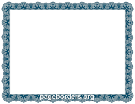 Blue certificate border projekty do wyprbowania pinterest free blue certificate border templates including printable border paper and clip art versions file formats include gif jpg pdf and png yelopaper Image collections