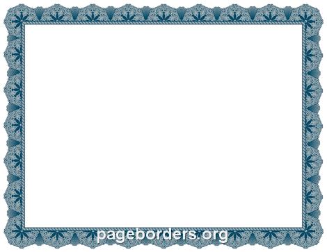 blue certificate border - Blue Certificate Border Template