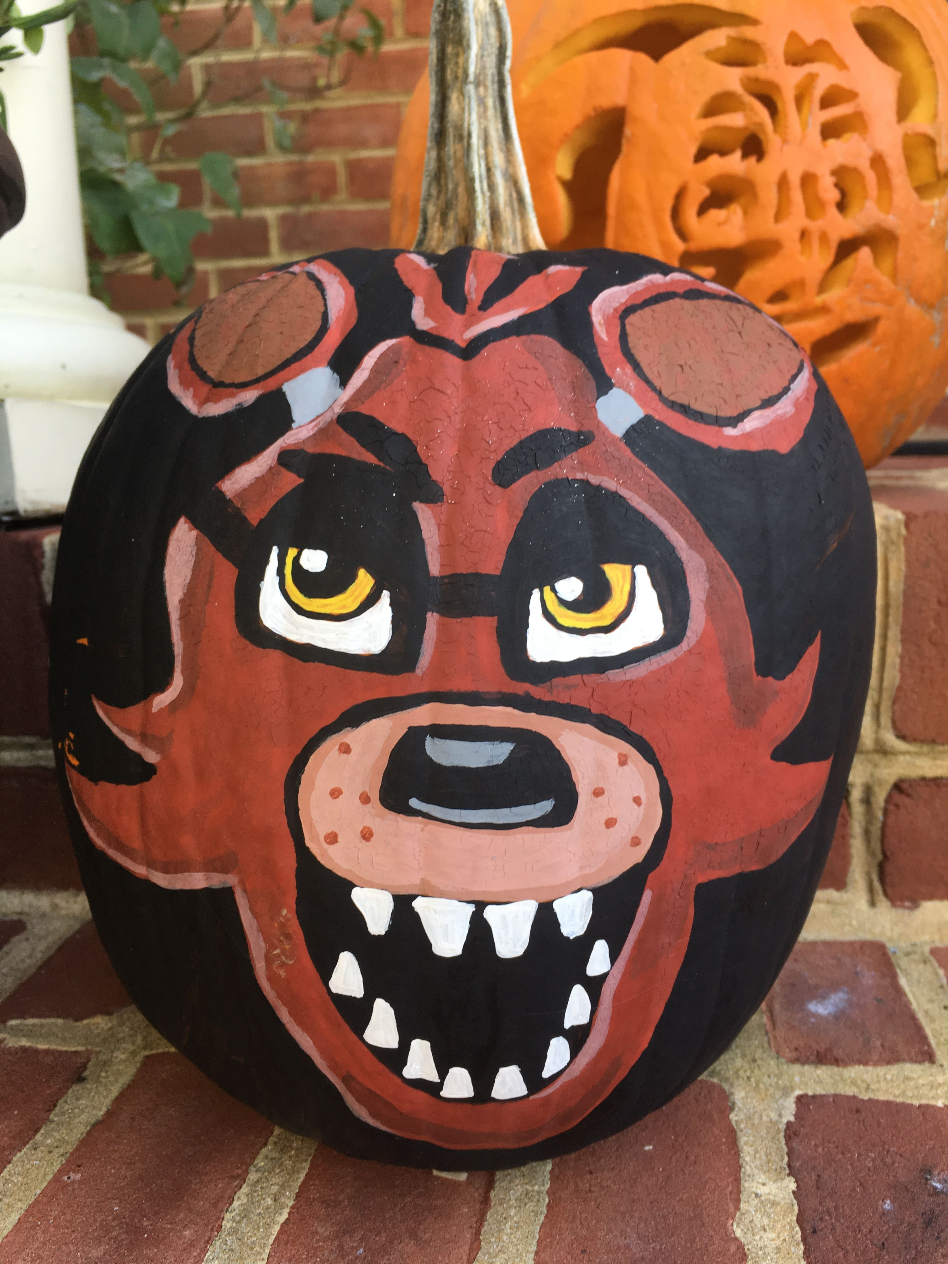 Foxy No Carve Pumpkin Five Nights At Freddys Fnaf Foxy