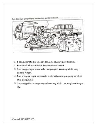 Bina Ayat Berdasarkan Gambar Picture Composition School Kids Activities Malay Language