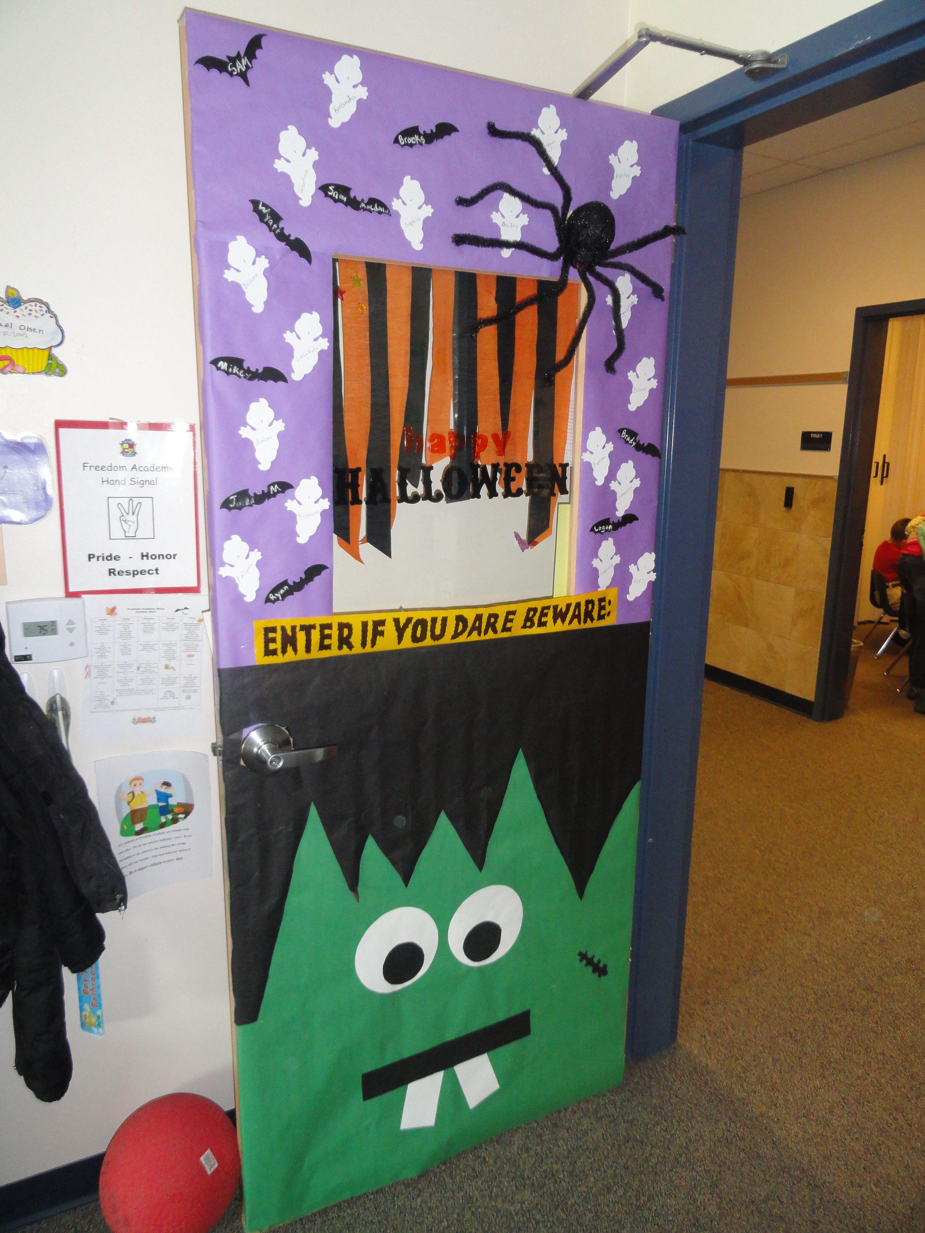 Monster door decorations
