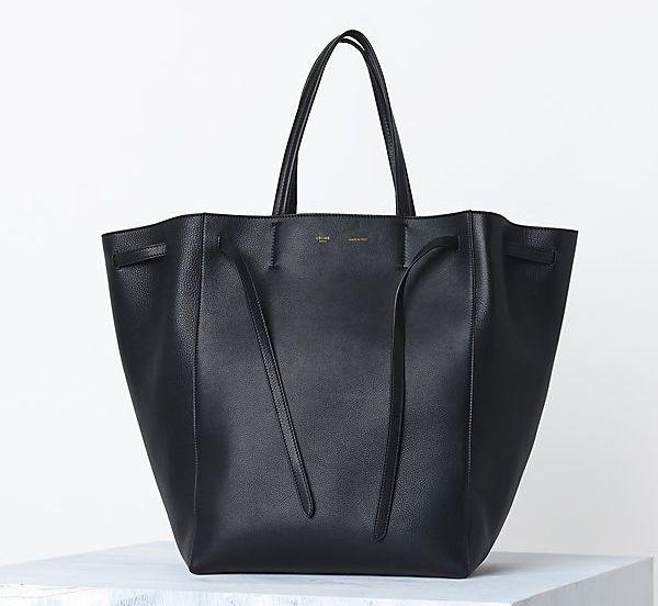 Celine Cabas Phantom handbag in Supple Calfskin Black  d60773b7c4047