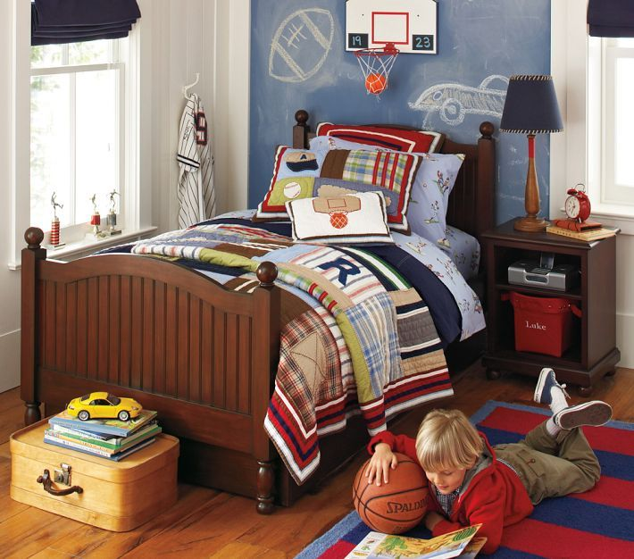 Cute And Colorful Little Boy Bedroom Ideas: Red White And