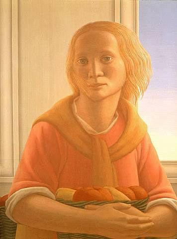 Girl with a Basket 1987: George Tooker