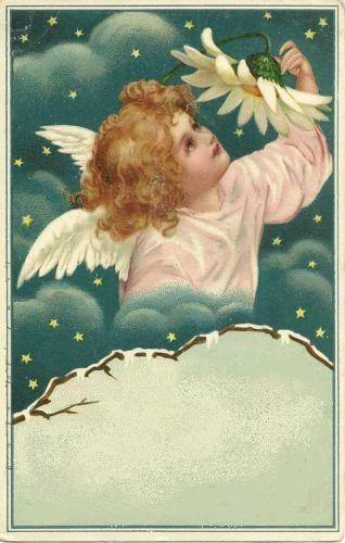 free angel postcard image | ... Victorian and Edwardian Christmas ...