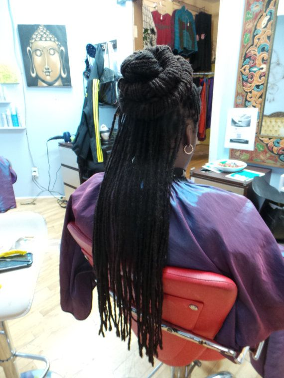 20 Afro Human Hair Loc Extensions Permanent Dread Extensions Thick