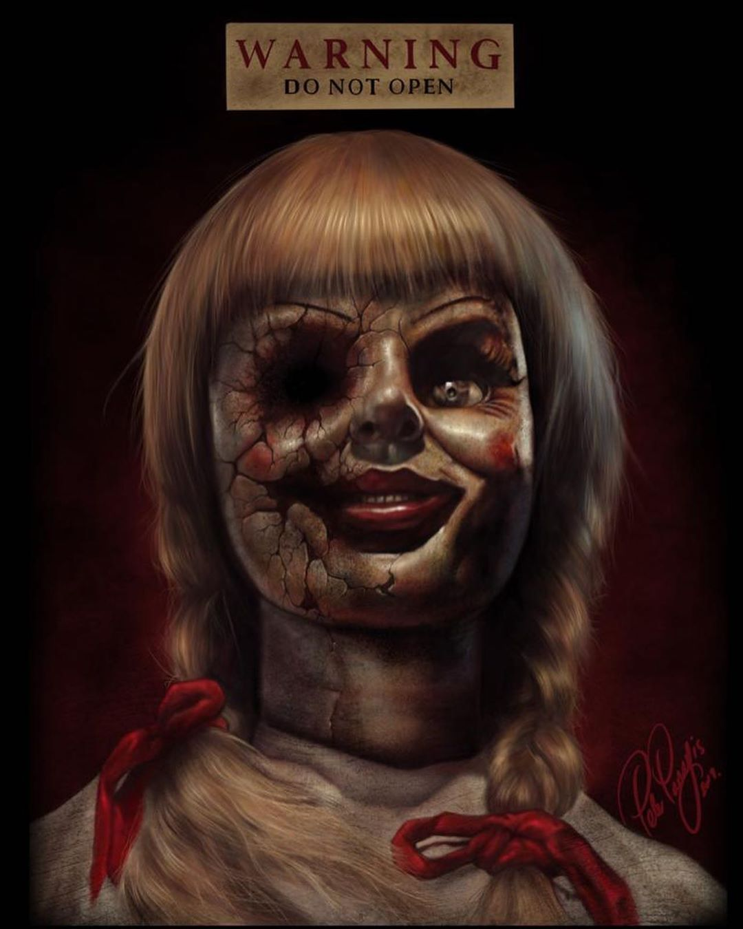 Peter Panayis On Instagram Annabelle Comes Home 2019 An Apt Post For The Uk Film Release Today My Latest P Horror Movie Art Horror Movie Icons Movie Art