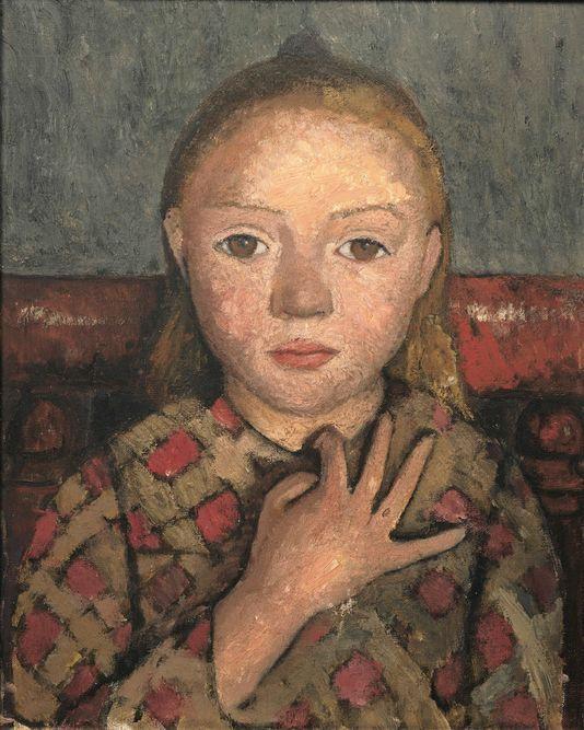 * portrait de jeune fille les doigts écartés devant la poitrine v 1905 - Paula Modersohn Becker (1876-1907)
