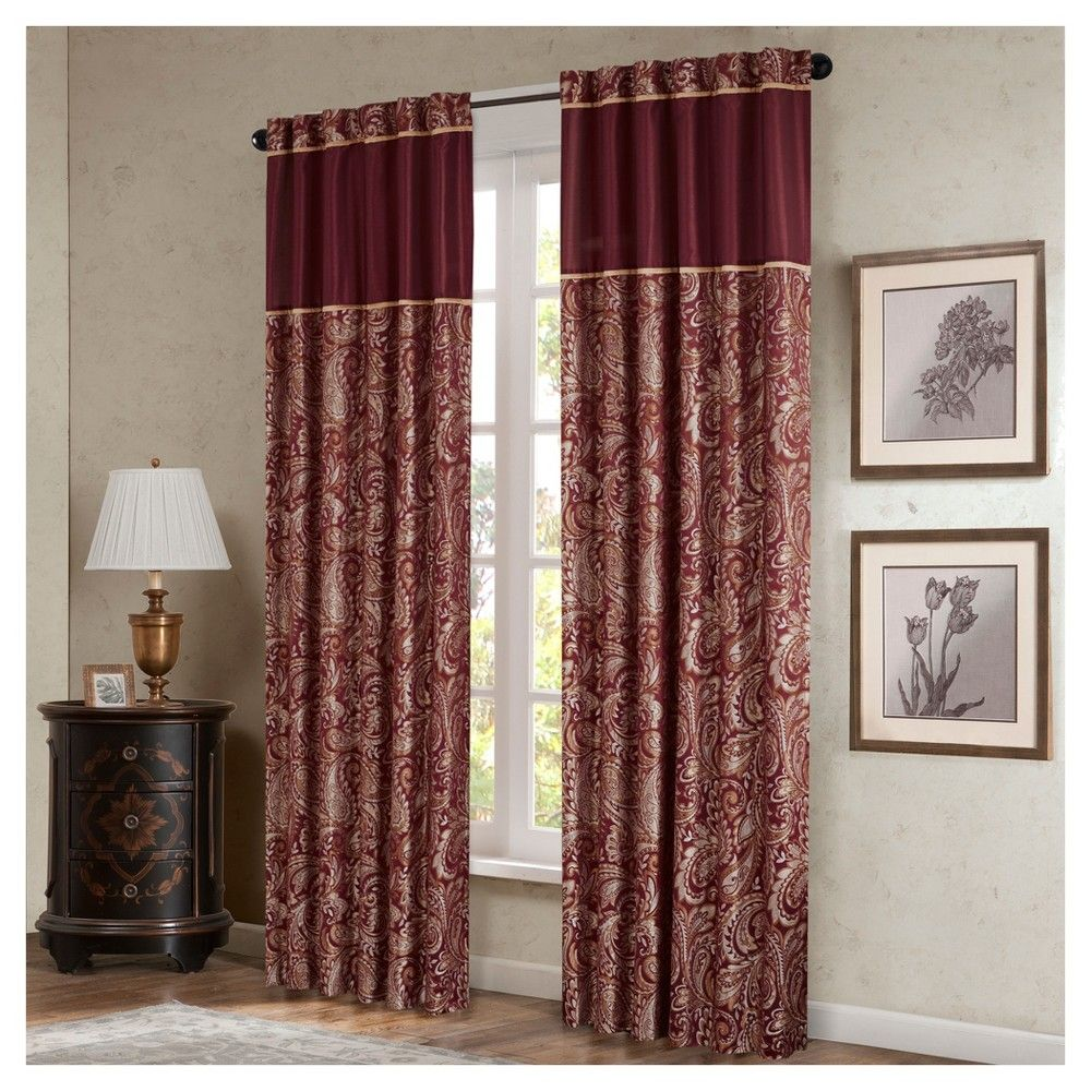 Valerie window curtain pair burgundy red