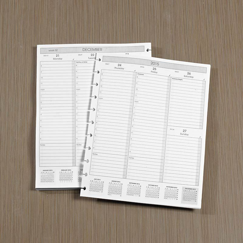 Circa Weekly Vertical Format Agenda Refill, Letter Personal - format for an agenda