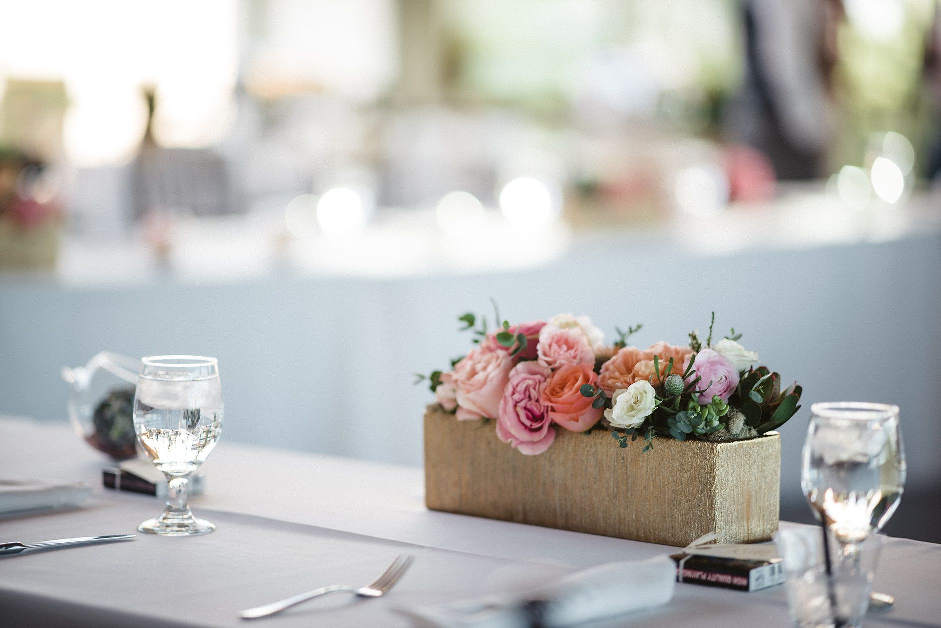 succulent flower centerpiece | Gold pink succulent centerpiece ...