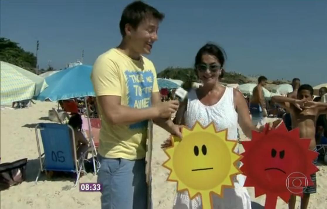 """Participação do Programa """"Mais Você"""" da Ana Maria Braga. na Praia do Arpoador. Rio de Janeiro, RJ. Brasil"""