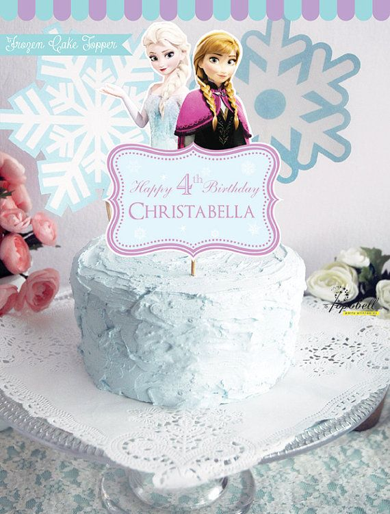 Frozen Cake Topper For Frozen Birthday Party Personalized Frozen