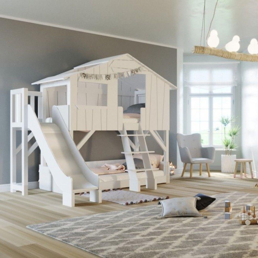 Letti A Castello Per Bambini Design.Letto A Castello Cabana Con Scivolo Frontale Mathy By Bols Nel