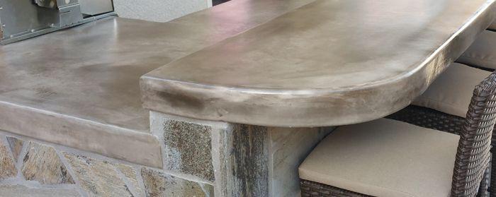 Concrete Countertop Styles Design Outdoor Kitchen Concrete