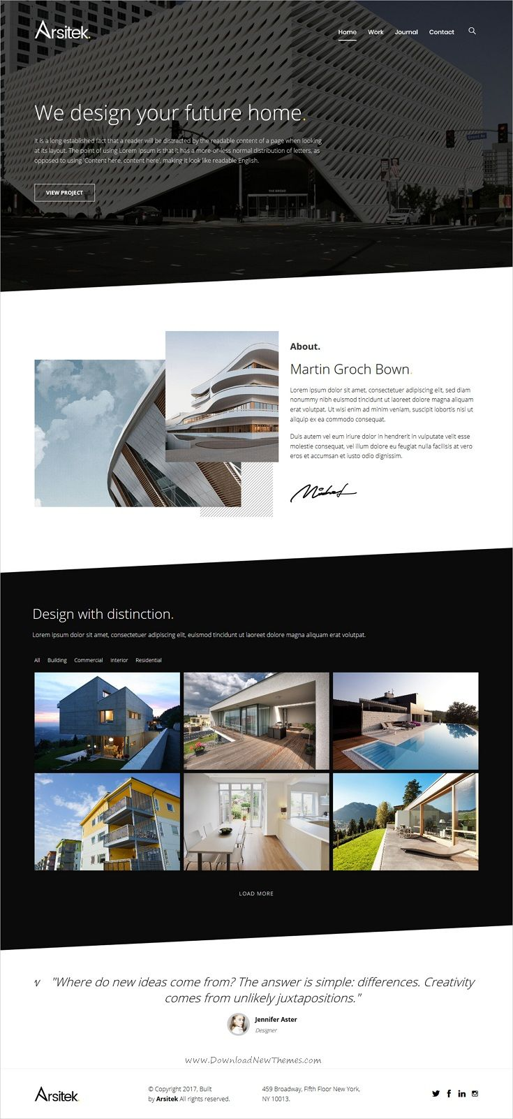 Arsitek | A Modern Theme for Architects and Interior Designers ...