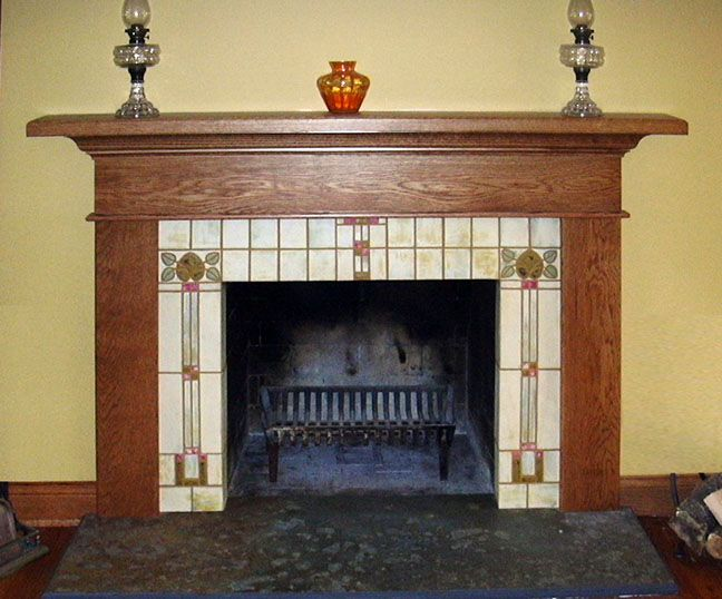 Ralston Fireplace Tile Design Integrated Details From