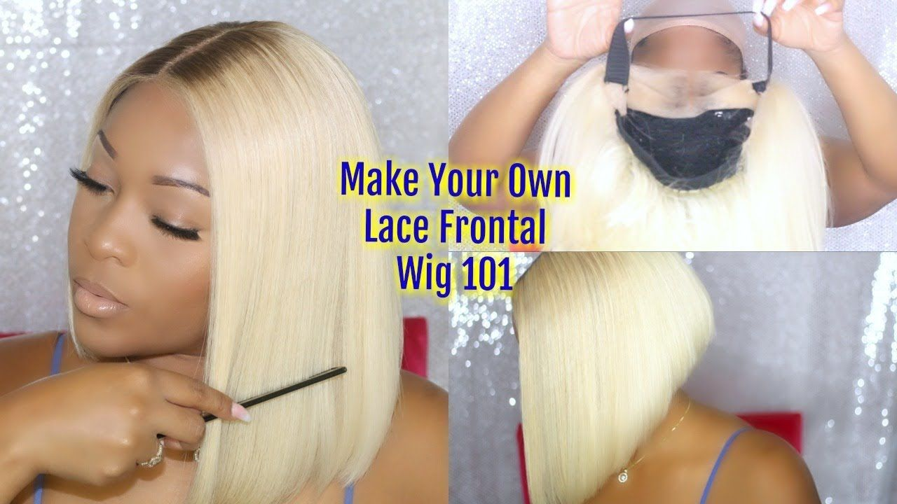 How to make a wig with a lace frontal wig step by step for