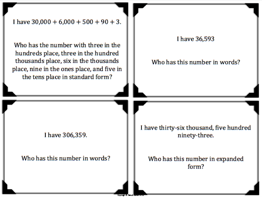 Practice Converting Numbers From Standard Form To Expanded Form And