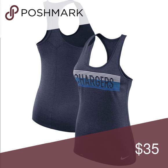 bbf598371de5c NFL Women s Nike Dri Fit Tank Top Chargers Material  100% Polyester Dri-FIT
