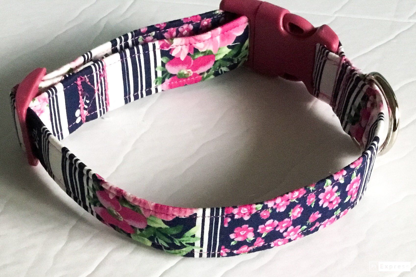 Pink Roses on Black Dog /& Cat Collars /& Martingales /& Leashes