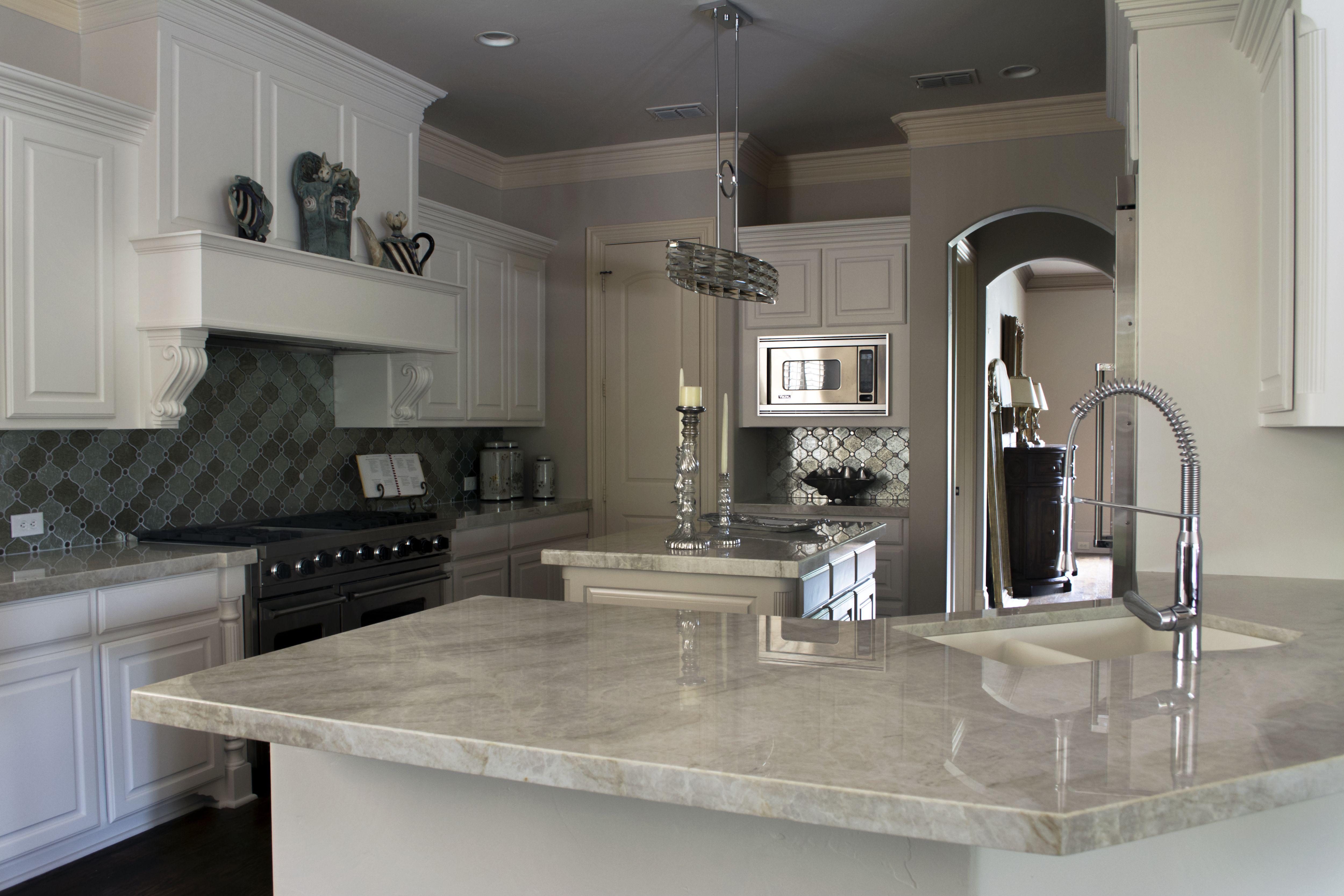 Taj Mahal Quartzite Kitchen Countertops By Economic Granite. Dallas, Tx