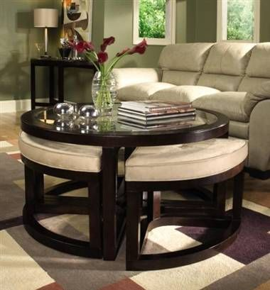 Coffee table with seating underneath New House Ideas Pinterest
