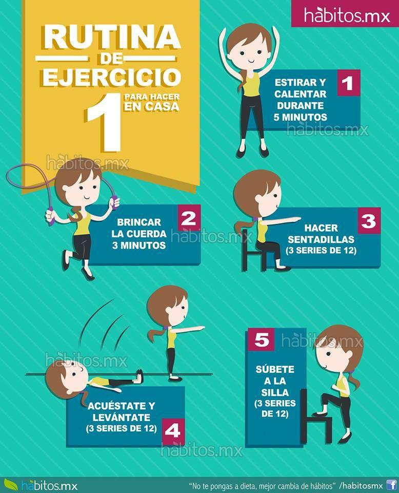 Rutina de ejercicios para hacer en casa ejercicios - Rutinas gimnasio en casa ...