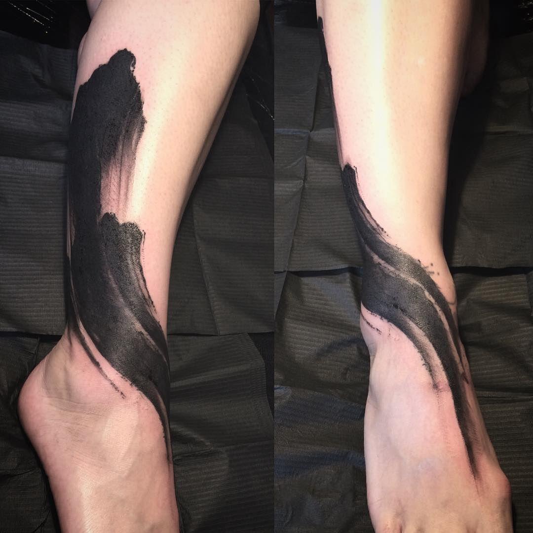 Name tattoo designs ankle delphine noiztoy side of head brush strokeu  tattoo  pinterest