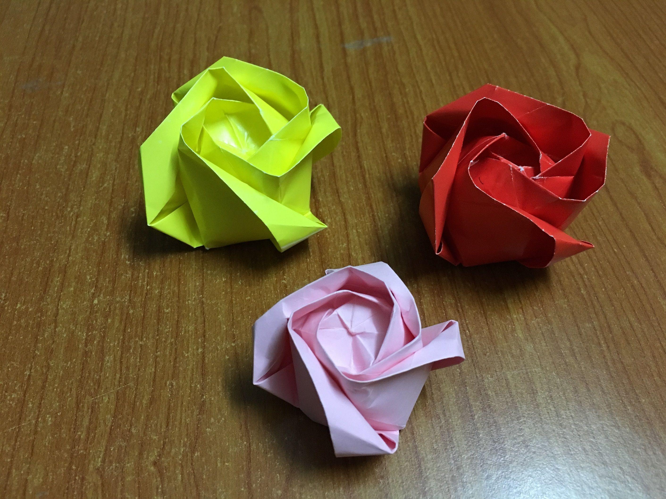 How To Make Origami Flower Rose Of Roses Diy Tutorial Origami