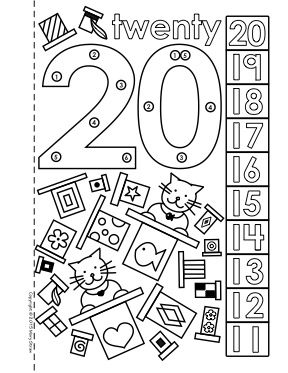 Dot To Dot Number Book 11 20 Activity Coloring Pages