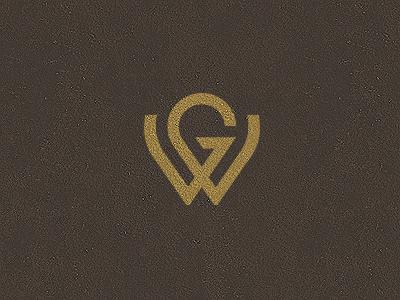 GW Monogram Typography poster design, Typographic logo