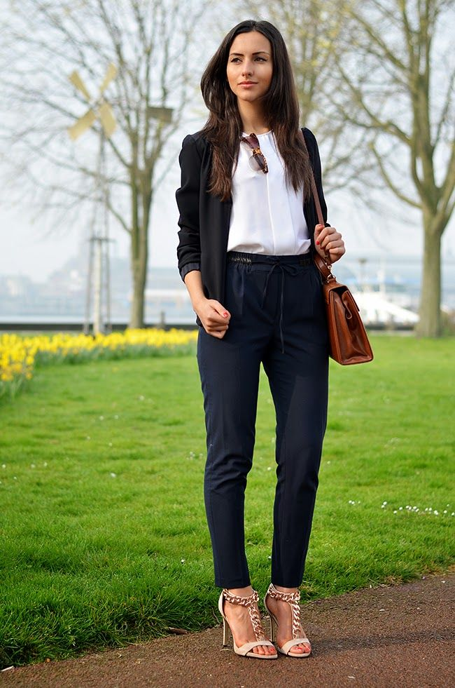 A comfy and sophisticated look for spring.