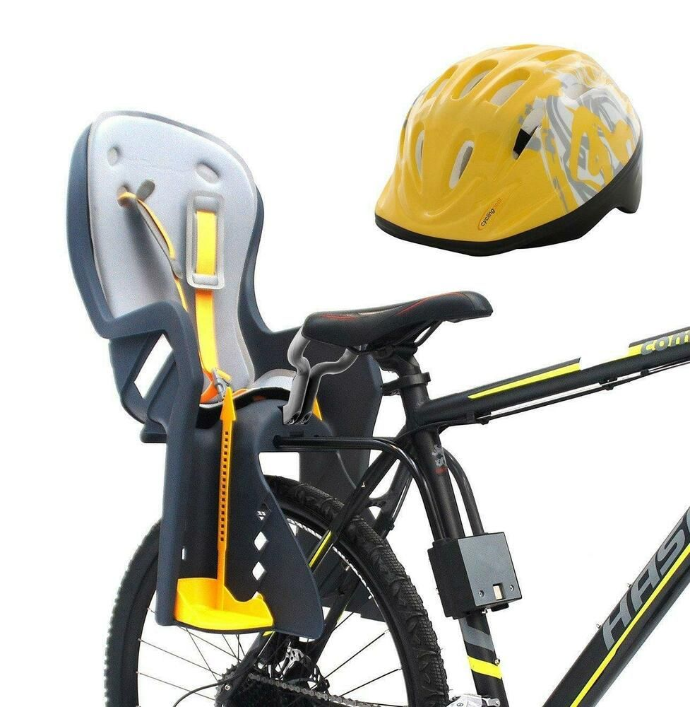Topeak Baby Seat II 26in Disc Rack Bicycle Baby Seat and Child Bike Helmet Kit