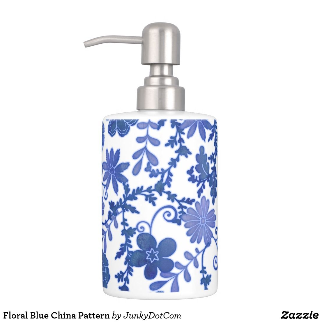 Floral Blue China Pattern Soap Dispenser And Toothbrush Holder May 8 2017 Spring Junkydotcom Bath Accessories Set Bath Accessories Blue Bath