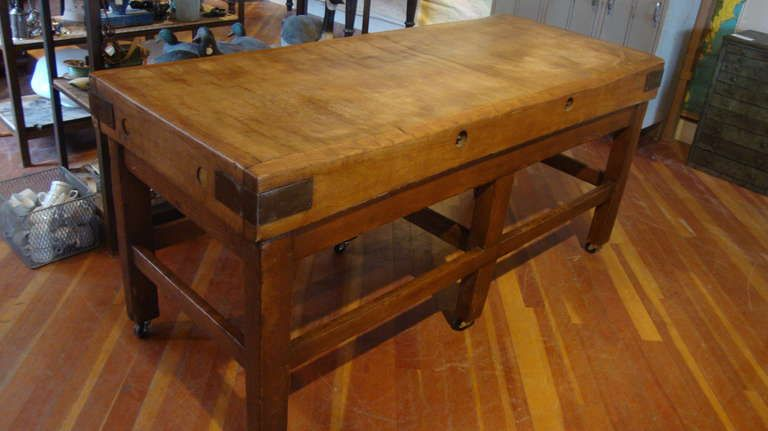 Butcher Block Table Butcher blocks, Butcher block tables and Block table