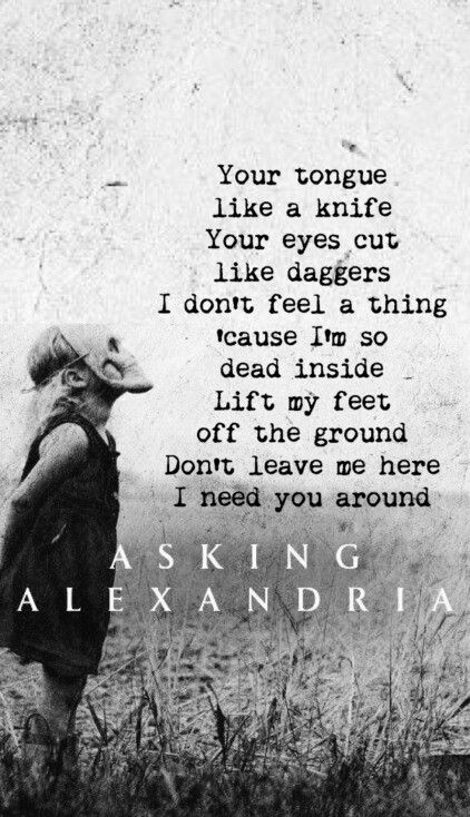 Don't get me wrong, Asking Alexandria is still an amazing band, but I liked the way they were with Danny.. his voice just fit better with their style.  I miss it.