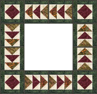 Flying Geese Quilt Borders | Stitch and Flip Squares / Pieced and ... : pinterest quilt borders - Adamdwight.com