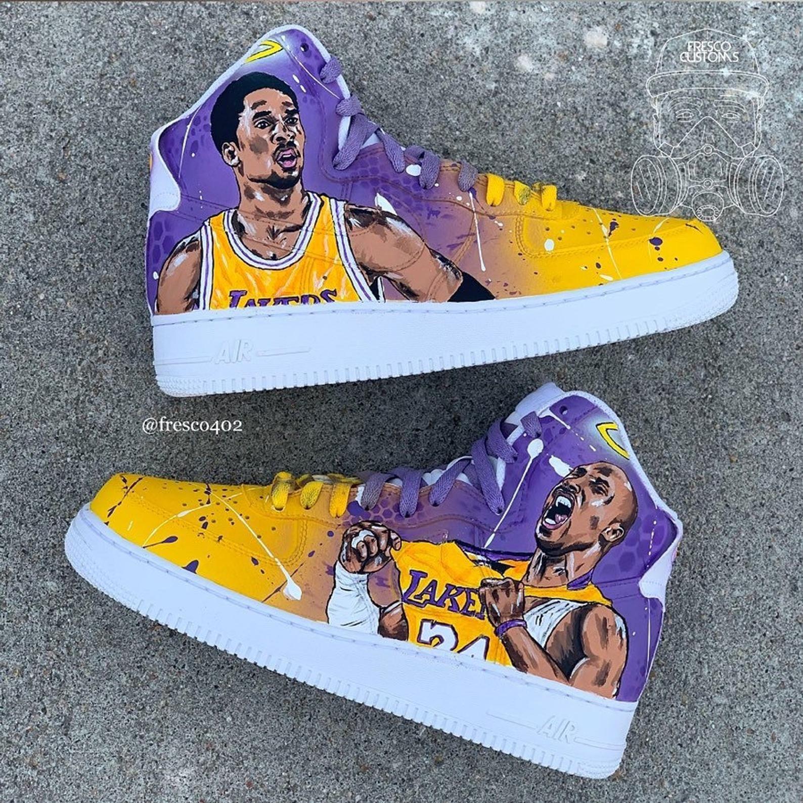 Kobe Bryant Tribute Custom Shoes | Etsy