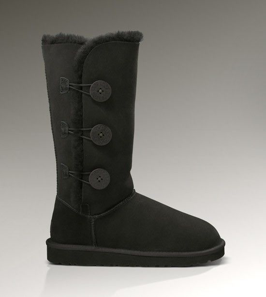 womens black bailey button uggs