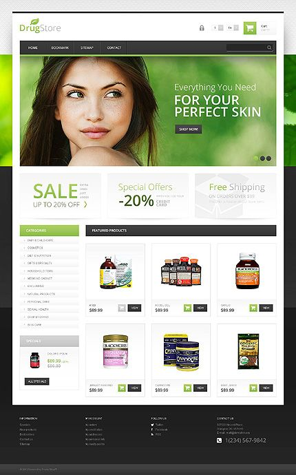 template 45427 drugs store responsive prestashop theme with
