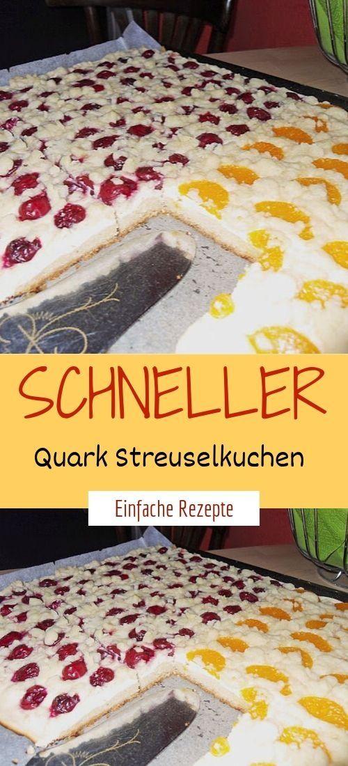 Schneller Quark Streuselkuchen Streusel Kuchen Quark Streuselkuchen Streuselkuchen