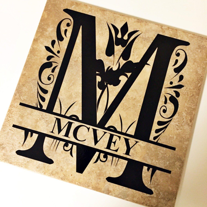 Monogram Tile | Decorative Tile | Custom Home Decor - pinned by ...