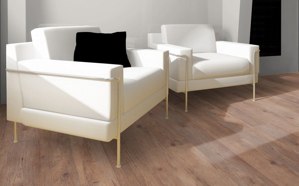Dit is een mflor pvc vloer authentic plank cupric haard